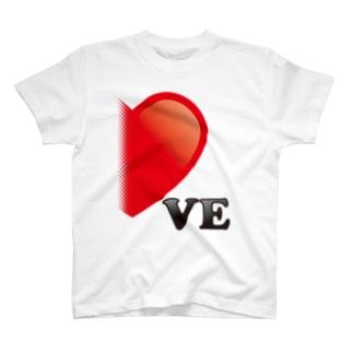 【suzuri店限定】光沢風でドットが♥ ラブラブ VE ペアルック  T-shirts
