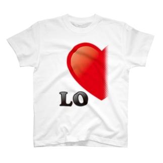 【suzuri店限定】光沢風でドットが♥ ラブラブ LO ペアルック  T-shirts