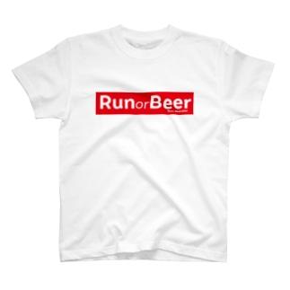 Run or Beer (Red Ribbon) T-shirts