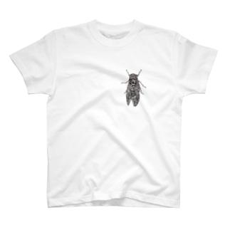 点描のセミ T-shirts
