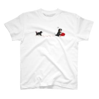 動物シリーズ:ピアノ犬 T-shirts