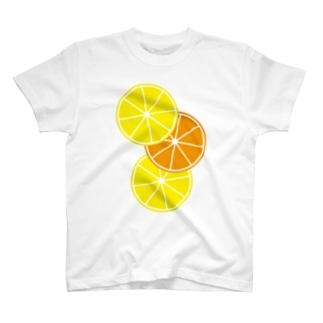 レモンとオレンジ T-shirts