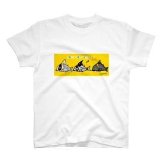 ラブ・コリドラス!黄 T-shirts