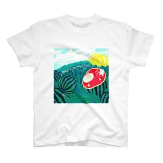 夏はスイカ T-shirts