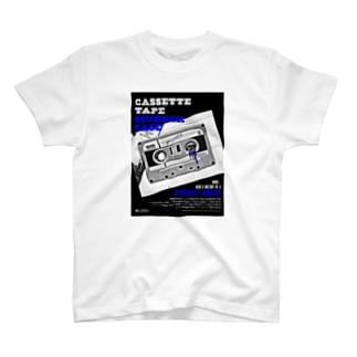 CASSETTE TAPE MURDER CASE(青) T-shirts