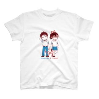 人間以下&女神 T-shirts
