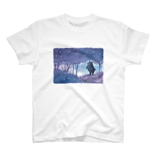 星降る森のくまさん Tシャツ