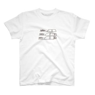 FIAT_PANDA窓枠【Brown】 T-shirts