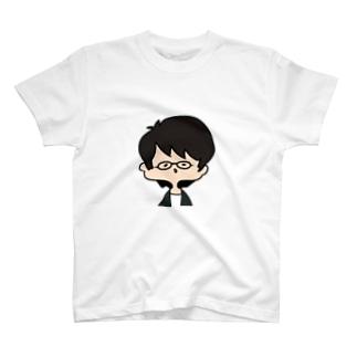 作者の顔4 T-shirts