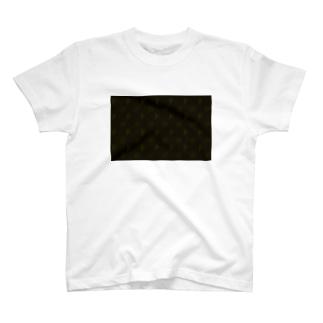 小動物lovesFIATのFIAT_PANDAモノグラム【Brown】 T-shirts