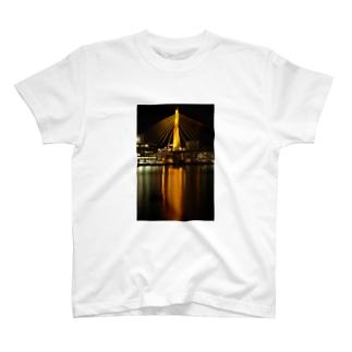 青森ベイブリッジ(Gold) T-shirts