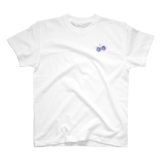 ワンポイント紫ちょうちょ T-shirts