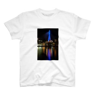 青森ベイブリッジ(Blue ) T-shirts
