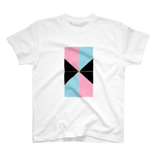 ピンク水色 T-shirts