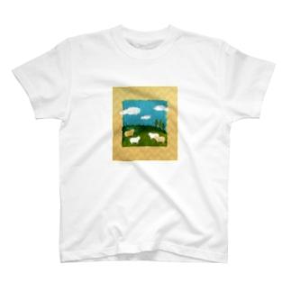 ひつじ牧場 T-shirts