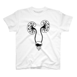 腎臓Tシャツ(モノクロ) T-shirts
