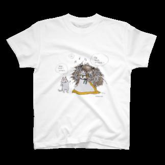 ほっかむねこ屋@ 3/9--3/16 吉祥寺駅の天パ娘 Tシャツ