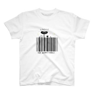 Hello!バーコード Tシャツ