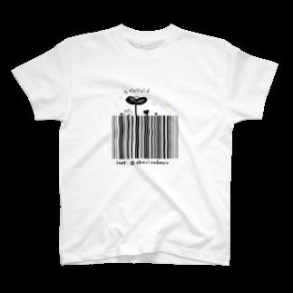 灯さかすのHello!バーコード Tシャツ