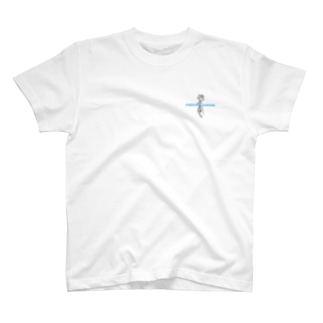 Rose Tattoo | baby blue letter T-Shirt