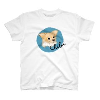 チビちゃん blue T-shirts