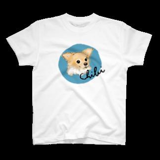 iccaのチビちゃん blue T-shirts