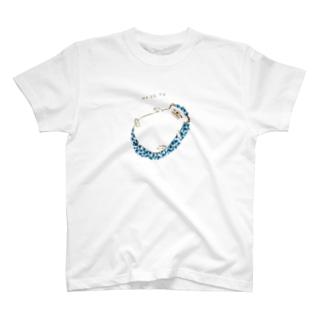 おねだり鉱石ねずみ(青) T-shirts