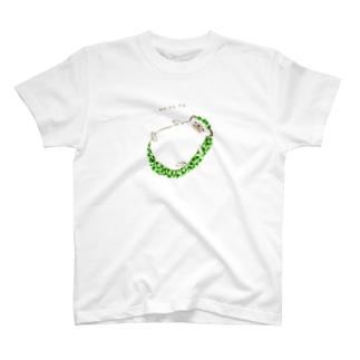 おねだり鉱石ねずみ(緑) T-shirts