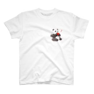 りんごと子パンダ T-shirts