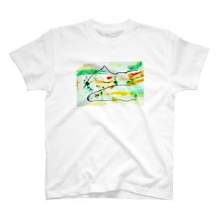 架空富士ロックt T-shirts