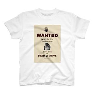 ウォンテッド:手配ポスター WANTED: Poster T-shirts