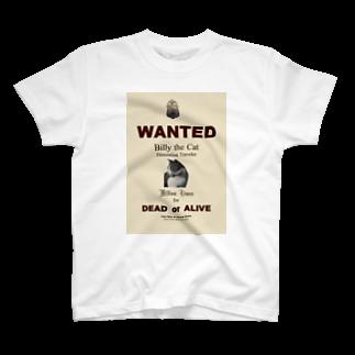 FUCHSGOLDのウォンテッド:手配ポスター WANTED: Poster T-shirts