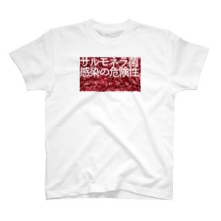 サルモネラ菌感染の危険性 T-shirts