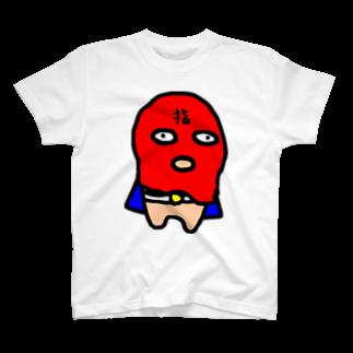 MORPHEUS&もんぺのフィンガーマン  (レッド) T-shirts