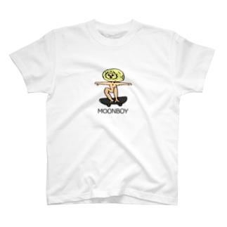 ムーンボーイ 初スケートボードTee T-shirts