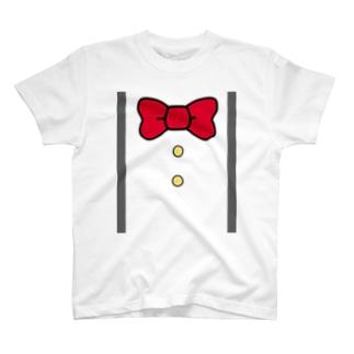 サスペンダー風Tシャツ T-shirts