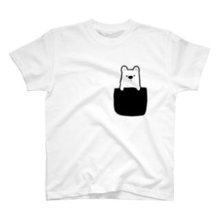 白くまをポケットに T-shirts