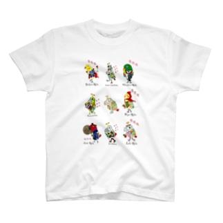 ROBOBO 鳥図 T-shirts