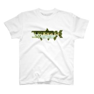 シャケシャツ(ホワイト) T-shirts