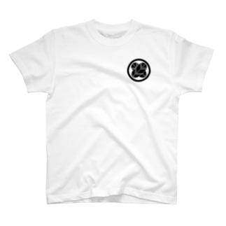 丸に違い鷹の羽 T-shirts