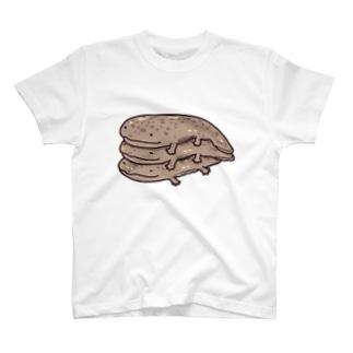 オオサンショウウオ三段重ね T-shirts