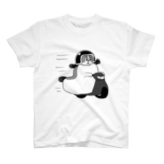 もじゃまるバイク移動 黒 T-shirts