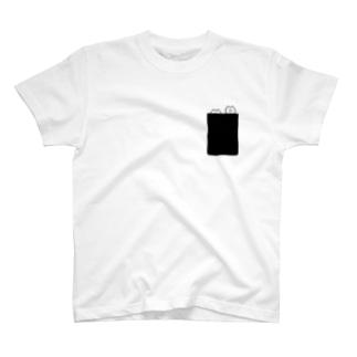 Pocket hohe T-shirts