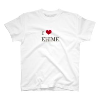 愛媛魂ハートver. T-shirts