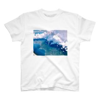 空の上からの写真 T-shirts