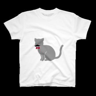 「我輩はクズである」の「我輩はクズである」のネコ T-shirts