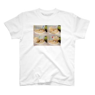 豆柴ビーンと柴ふとん T-shirts