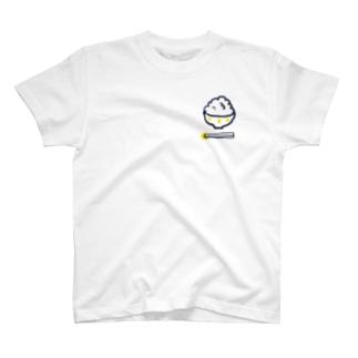 ごはんと黄色い箸置き T-shirts