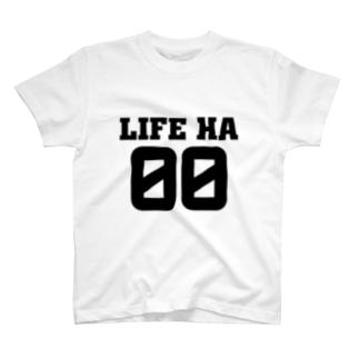ミノル君風「LIFE HA 00」Tシャツ T-shirts
