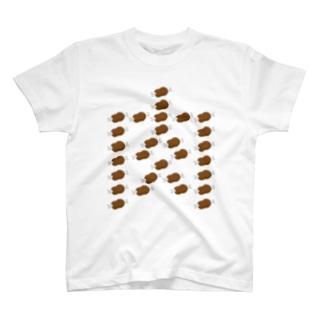 肉で肉 T-shirts